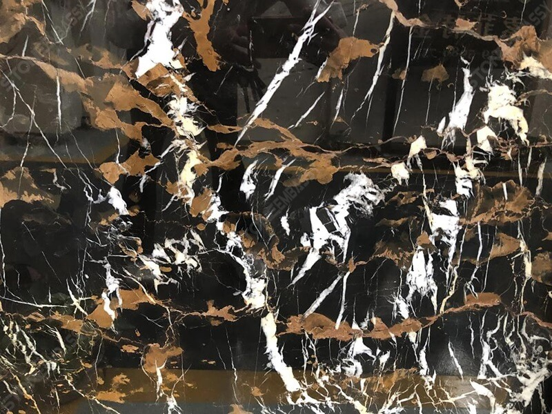 Afghan Black Gold Marble Texture