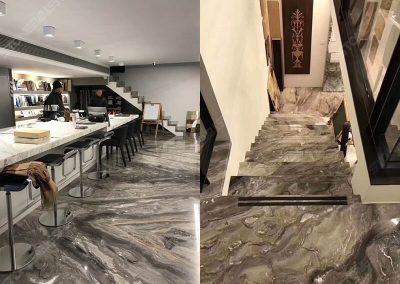 Arabescato Orobico marble indoor