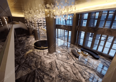 Arabescato Orobico marble in lobby