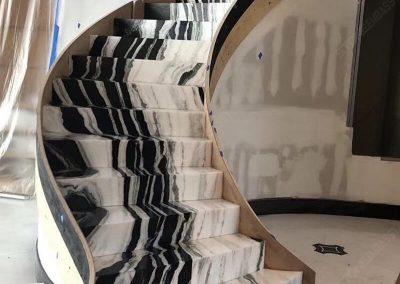 Panda white stairs