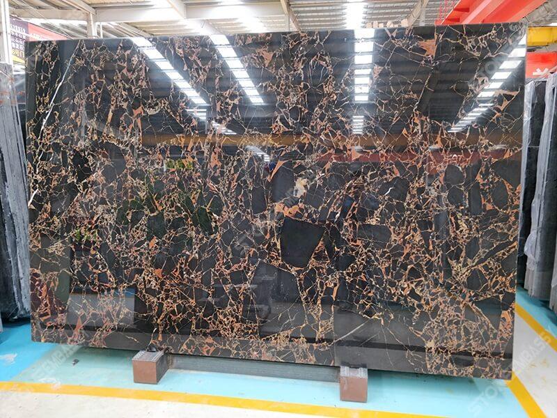 athens portoro marble slab