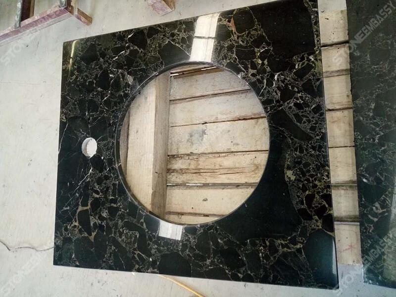athens portoro marble vanity top