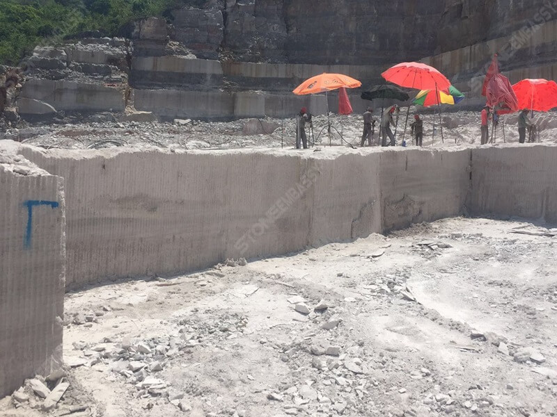 wooden white marble quarry