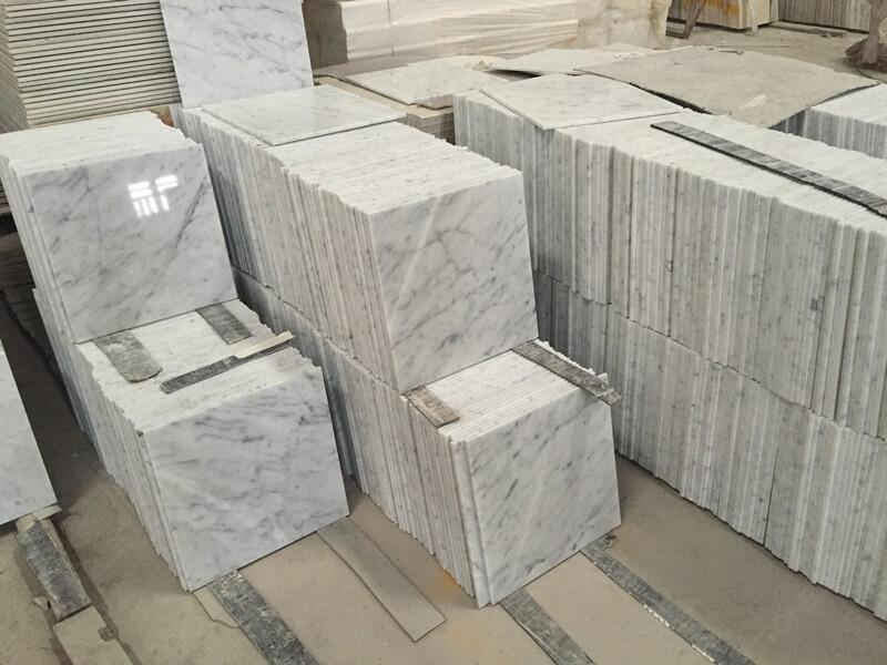 12x12 carrara marble tiles instock