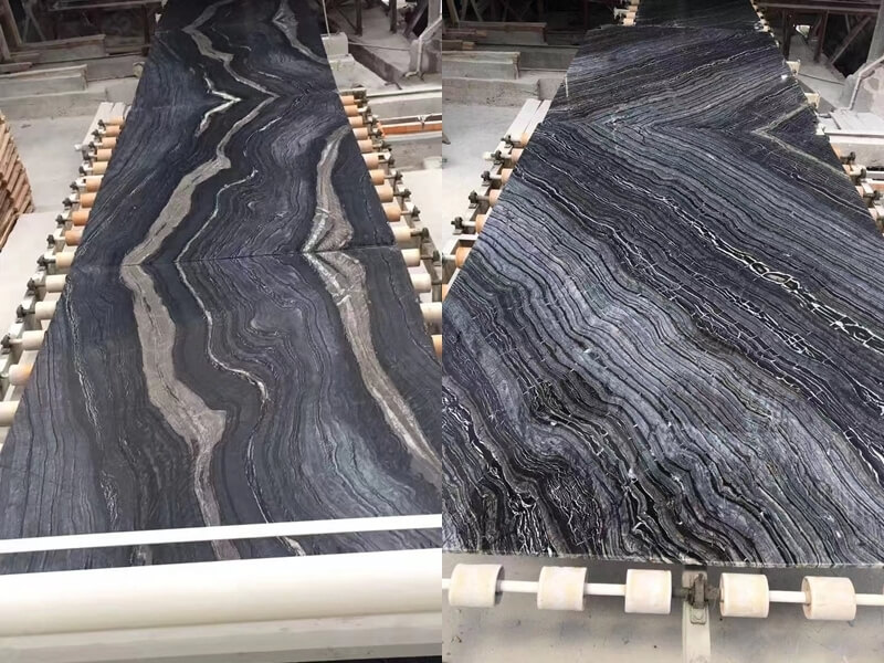 Black forest marble processing