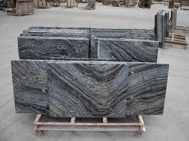 Black forest marble tile