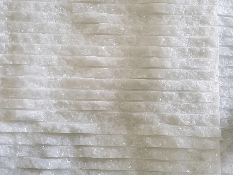 Crystal White Grooved