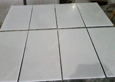 Crystal White Marble Thin Tiles Drylay