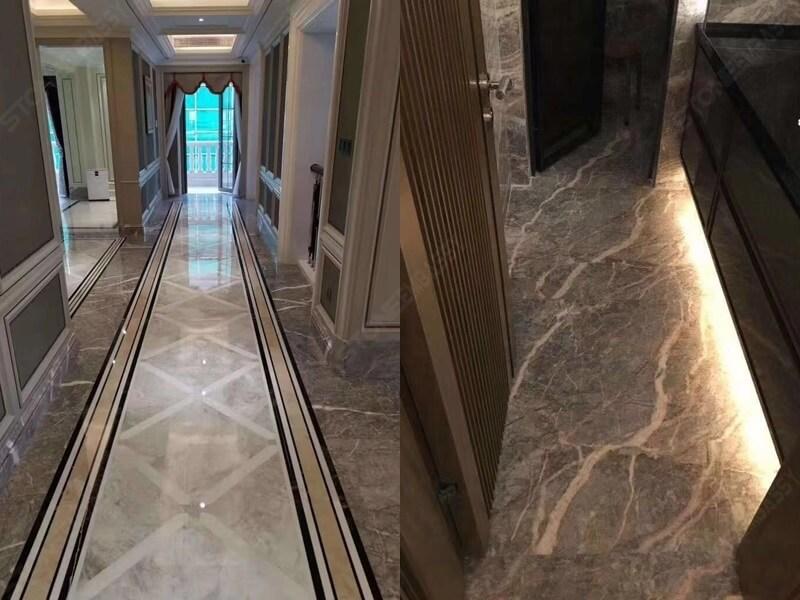 Fior Di Pesco Marble corridor and bath room