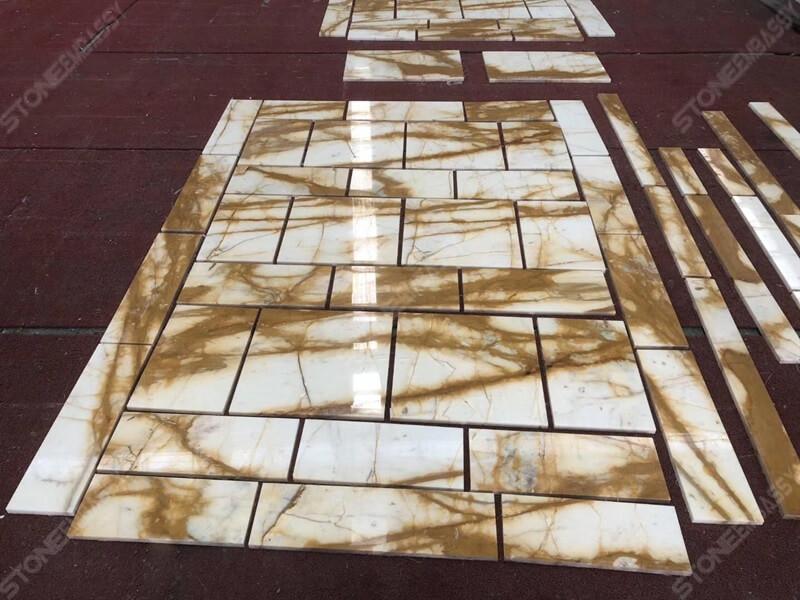 Giallo Siena Marble Tile1