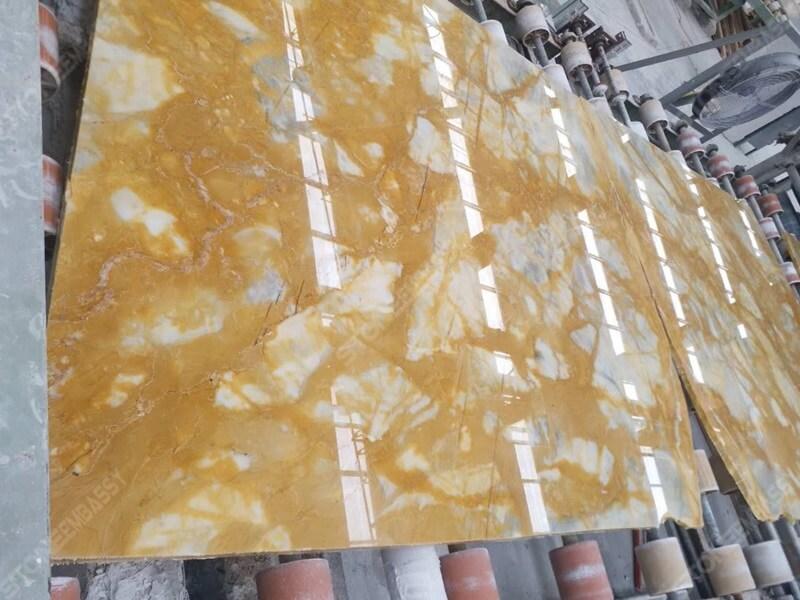 Giallo Siena Marble polished