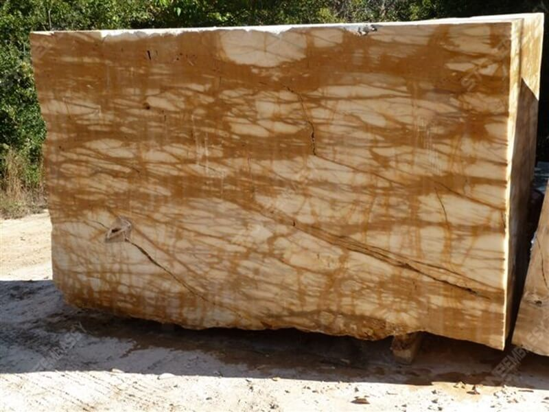 Giallo siena marble block