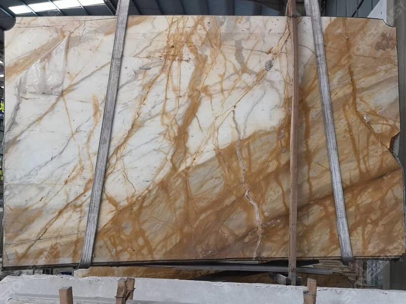 Giallo siena marble two tone back groud colour