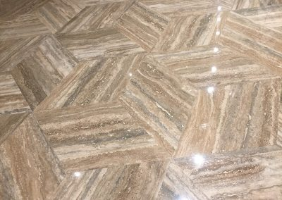 Italian Silver Travertine Rhombuses Tiles