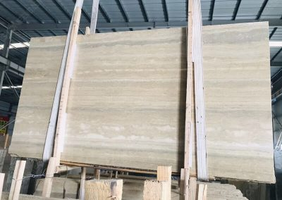 Italian Silver Travertine Slab