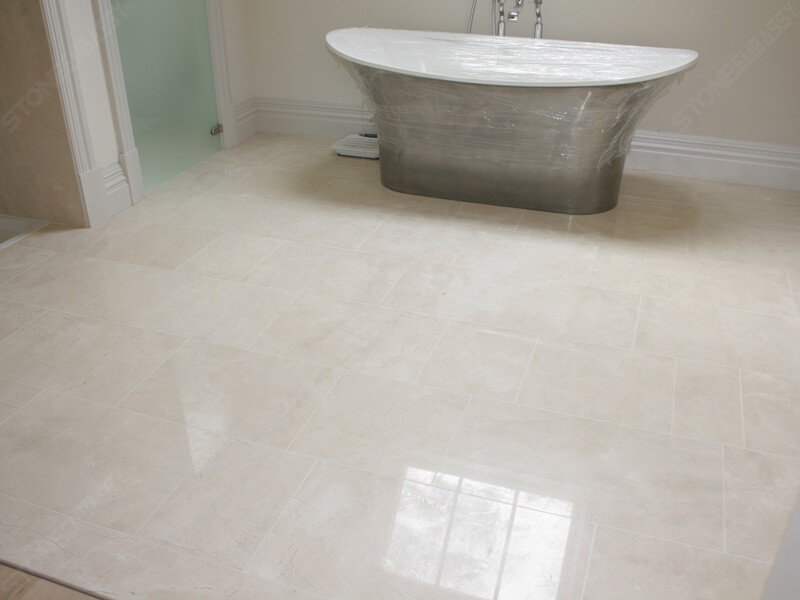 The Flooring by Crema Marfil Marble Tile