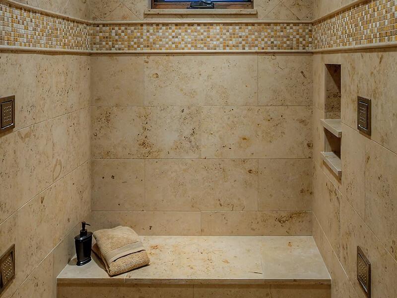 jura beige limestone bathroom