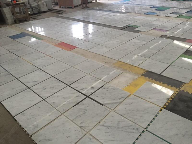 match the vein for carrara tiles