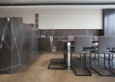 pietra grey marble kitchen decoration