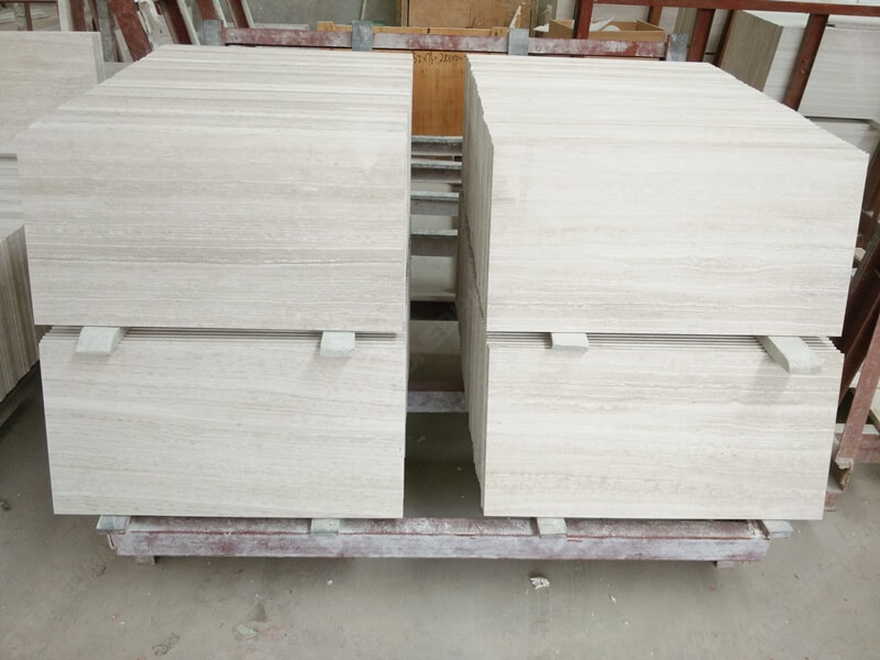 12x24 inch wooden white marble tiles