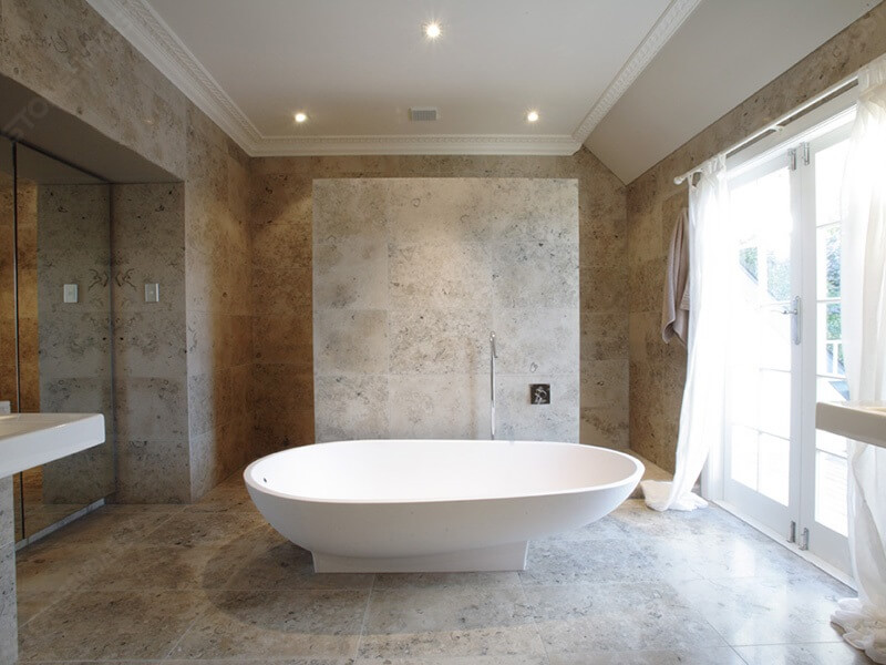 Jura Grey Limestone Bathroom FLooring and Wall Decoration
