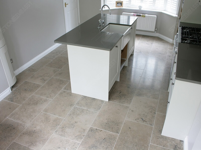 Jura Grey Limestone Kitchen Flooring Tiles (2)