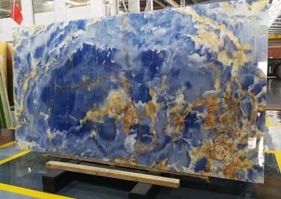 Blue Onyx Marble Slab