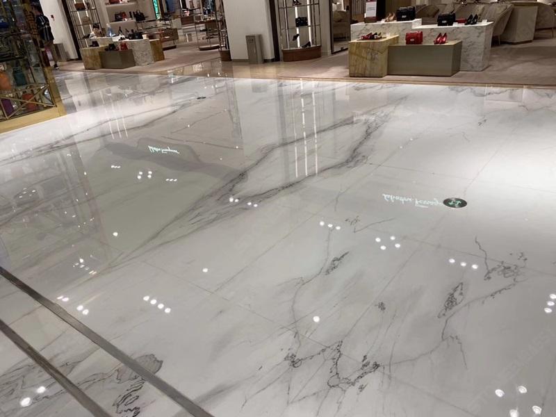 Calacatta Lincoln White Marble Tiles Application