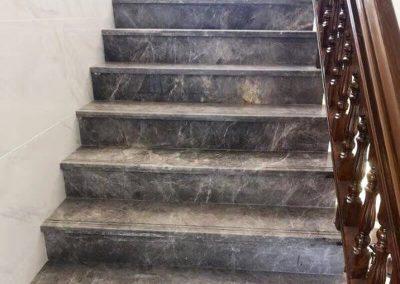 Grey Emperador Marble Stairs
