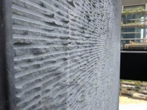Grey Emperador curved stone