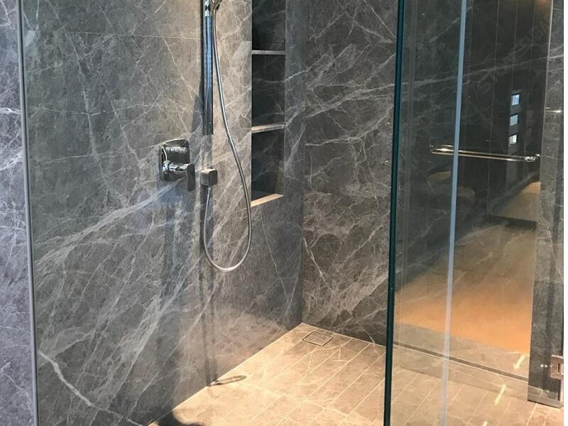 Grey Emperador in Bathroom Tiles