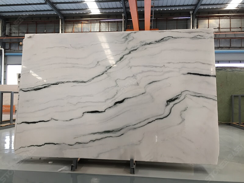 Polished Panda White Marble