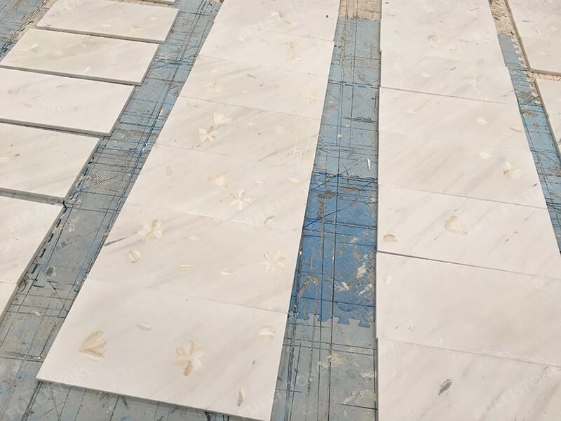 Sivec White Marble Medallion Tiles (2)