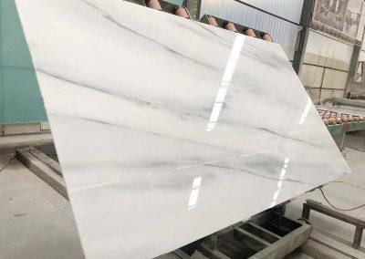 Suface polished Polar White marble