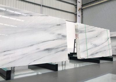 Vein cut Polar White Marble