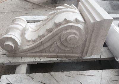 carved moca crema limestone