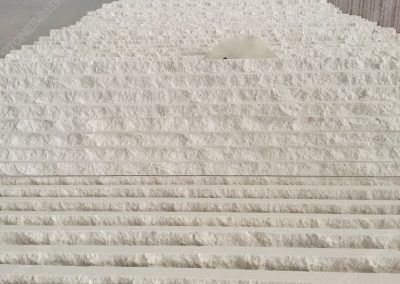 grooved limra white limestone tiles