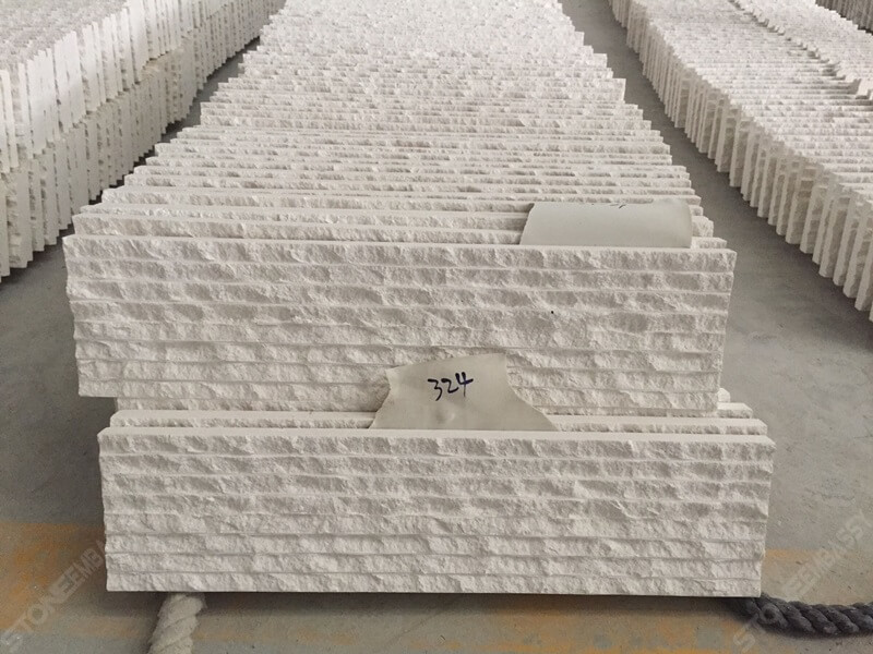 grooved limra white limestone