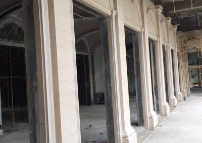moca cream limestone pilaster