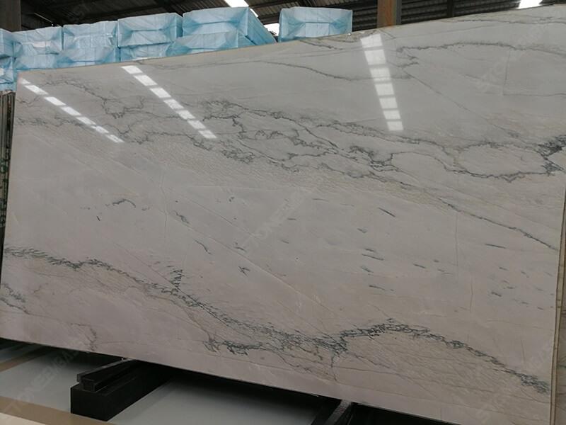 white macaubas quartzite mix veins