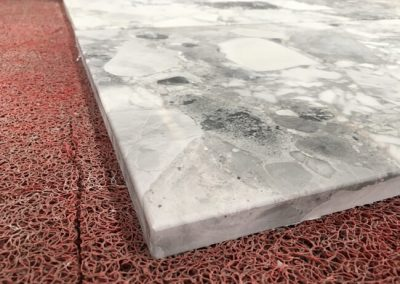 Eased Eedge of Cube Grey Marble