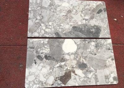 Honed Finish Cube Grey Marble