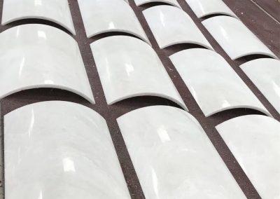 Rhino White Marble Pillar