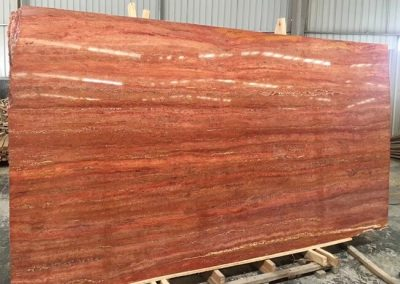 Vein cut Red Travertine with filled