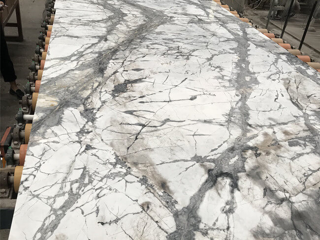 invisible grey marble processing