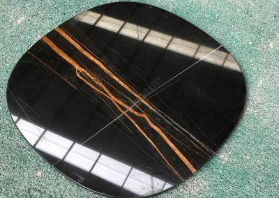 sahara noir marble dining table
