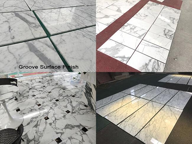 white statuario marble tiles