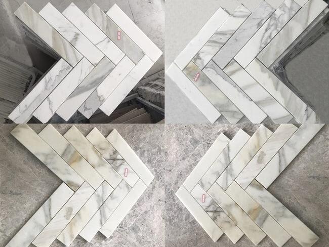 Calacatta Marble Mosaic Tiles