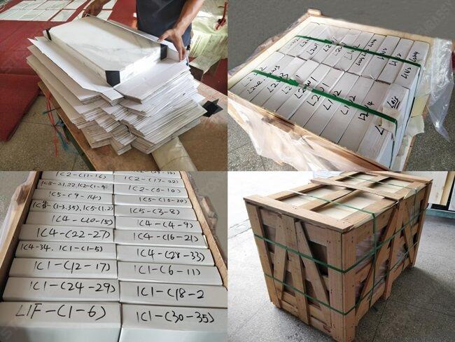Calacatta Marble Thin Tiles Packing