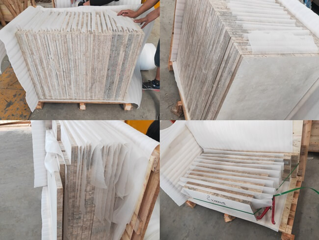 Our Packing for Silver Travertine Tiles